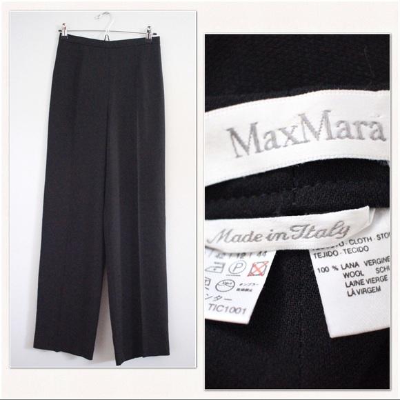 8e815ebbd5ec MaxMara Pants | High Rise Wide Leg Wool Trousers Size 10 | Poshmark